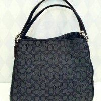 JUAL TAS COACH PHOEBE SIGN BLACK ORIGINAL ASLI 100% ORIGINAL