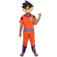 Baju Anak Kostum Topeng Superhero Son Goku Dragon Ball