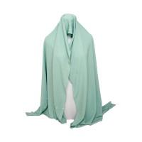 Jilbab Cantik Hijau Tosca Wepe Button By Wahyu Puspita Rini UN