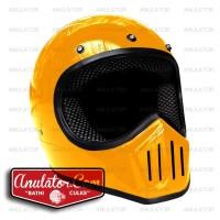 Helm cakil Biasa europe vespa retro japstyle caferacer kuning buluk