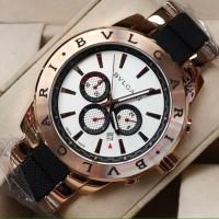 Jam Tangan BVLGARI Men's Rosegold White Dial