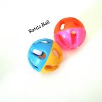 bola kerincingan isi 2 rattle ball mainan bayi baby toys kricik bunyi