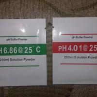 1 set Serbuk Kalibrasi pH Meter Buffer 4.00 & 6.86 Powder Calibration