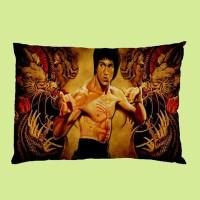 Sarung Bantal Custom Bruce Lee 45x65 cm gambar 2 sisi #1