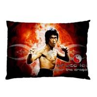 Sarung Bantal Custom Bruce Lee 45x65 cm gambar 2 sisi #2