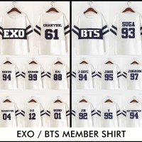 KAOS BTS EXO MEMBER/KAOS CUSTOM/KAOS KPOP/SEHUN/CHANYEOL