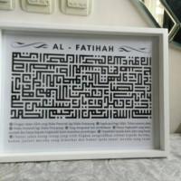 harga hiasan dinding kaligrafi kufi surat al-fatihah uk 30x40 Tokopedia.com