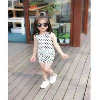Setelan Baju Anak Perempuan Polkadot nan Trendy
