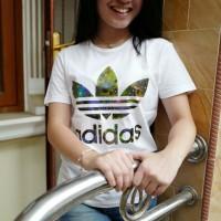 Tmblr Tee / T-Shirt / Kaos Wanita / Adidas Galaxy