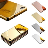 Case Metal Aluminium iPhone 4 / 4s - Bumper Frame Mirror Back Slide