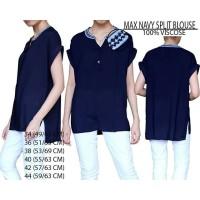 harga Baju Branded Wanita - MAX NAVY SPLIT BLOUSE Tokopedia.com