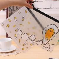 amplop motif telur Egg Blue A5 paper bags zipper bags sma007