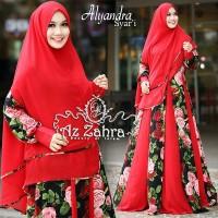 Baju Gamis/ baju muslim / pakaian wanita Alyandra Syari by AzZahra