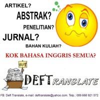 Jasa translate translation penerjemah Inggris jurnal terjemahan