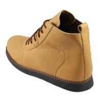 Bradleys Brodo Sepatu Boots Pria - Kulit Asli Tan