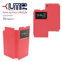 "Flip Soft Case UME ""Imagine"" SONY L39H (Xperia Z1) Handphone & Tablet"