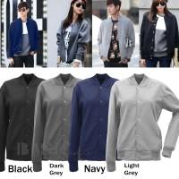 jaket versity polos unisex hitam abu navy misty marun light grey