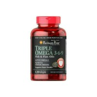 Puritans pride triple omega 369 fish & flax oil isi 120softgels