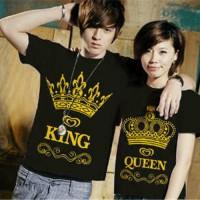 KAOS COUPLE KING QUEEN (HITAM)