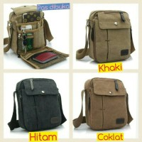 harga tas selempang kanvas pria /sling bag / tas slempang cowok / travel bag Tokopedia.com