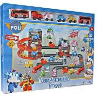 Mainan Anak Track Robocar Poli TRANSFORMABLE ROBOT TRACK POLI 660-193