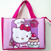 Jual Tas Hello Kitty Chef (Lunch Bag, Tas Les, Tas Bekal, Suvenir Ult Murah