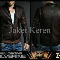 Jaket semikulit wolverine/jaket Xman/jaket super hero
