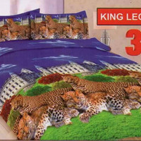 sprei bonita disperse 3D king leopard uk. 180