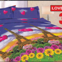 sprei bonita disperse 3D love in paris uk. 180