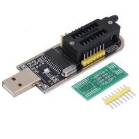 25 SPI Series 24 EEPROM CH341A BIOS Writer LCD Flash USB Programmer