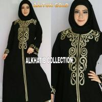 Abaya Zaytun Gold / Abaya Arab / Baju Muslim / Baju Muslimah