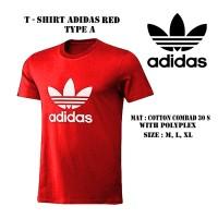 kaos tshirt adidas merah logo putih keren murah bagus baru grosir ecer