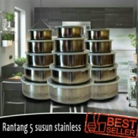 rantang susun 5 stainless / protect fresh box