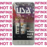 TEMPERED GLASS Infinix Hot S X521 SCREENGUARD ANTIGORES KACA HOTS HOT