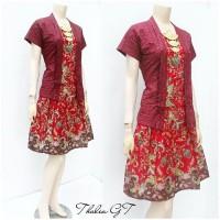 Setelan Batik Solo, Setelan Batik Thalia Merah