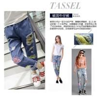 Jeans Anak Sobek Belel 2 Warna Jeans Panjang Import (Unisex)