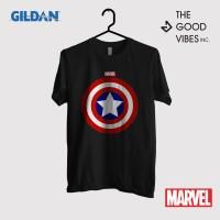 Kaos Film Merchandise Marvel Original Gildan - Captain America Symbol