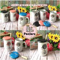 harga gelas keramik  kaca motif starbucks guci Tokopedia.com