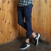 Joger Pants Biru Navy Merk Ice Cream Kualitas Premium Ukuran 27 - 36