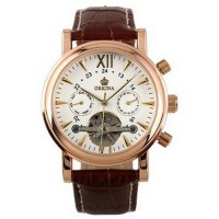 ESS Luxury Men LeatherStrap Automatic Mechanical WM308 RoseGold Orkina