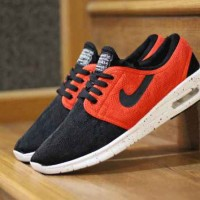 sepatu casual nike stefan janoski made in vietnam import black red