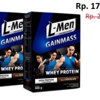 2 Box Package L-Men Gain Mass Chocolate - 500gr
