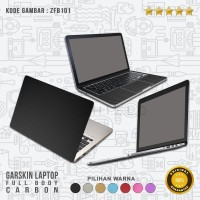 Garskin/Skin/Cover/Stiker Laptop - Garskin Full Body Carbon/Karbon