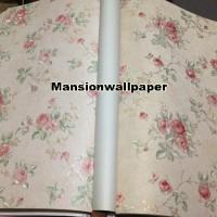 Jual Wallpaper Dinding Bunga Shabby Chic Rose Murah