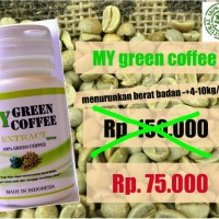 Jual My green coffee bean/ kopi hijau kapsul wamena/ papua supplement diet Murah