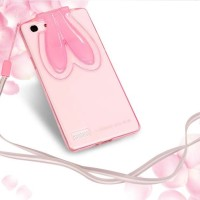 Rabbit Soft Case Clear Oppo Neo 7 A33 Silikon Casing HP Cover Stand 3D