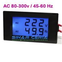 harga Dual AC Volt + Hertz Meter LCD Voltmeter Tegangan PLN Genset Frequency Tokopedia.com