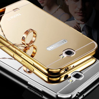Samsung Galaxy NOTE 2 / NOTE II Hard Case Aluminum Bumper Mirror Mewah