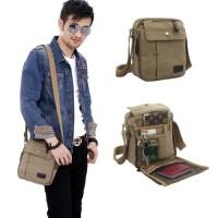 Jual tas selempang kanvas pria /sling bag / tas slempang cowok / travel bag Murah