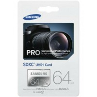 Samsung 64GB SDHC SDCard Memory Card Pro 90MB / S